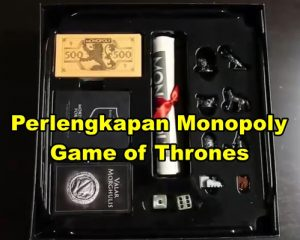 Perlengkapan Monopoly Game of Thrones